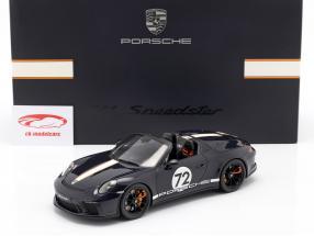 Porsche 911 (991 II) Speedster #72 blu mare Con vetrina 1:18 Spark
