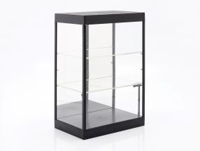 单展柜 用 LED照明 和 镜子 对于 规模 1:18, 1:24, 1:43 黑色 Triple9