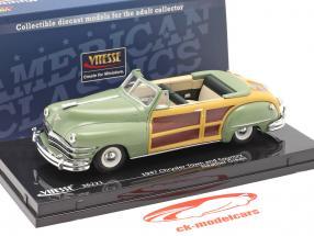 Chrysler Town and Country jaar 1947 heide groen 1:43 Vitesse