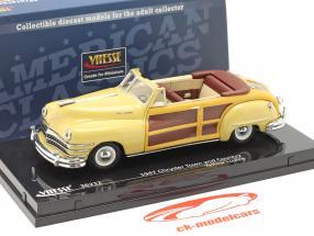 Chrysler Town and Country år 1947 gul glans 1:43 Vitesse