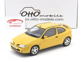 Renault Megane Mk1 Coupe 2.0 16V Byggeår 1999 solsikke gul 1:18 OttOmobile