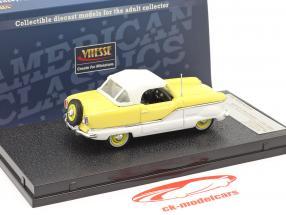 Nash Metroplitan Coupe año 1959 blanco / amarillo 1:43 Vitesse