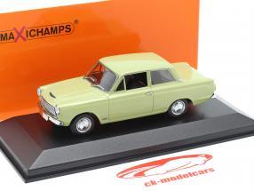 Ford Cortina MK I Ano de construção 1962 luz verde 1:43 Minichamps