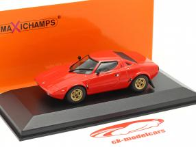Lancia Stratos Byggeår 1974 rød 1:43 Minichamps
