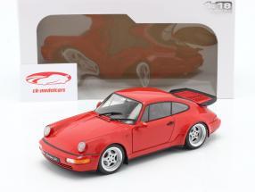 Porsche 911 (964) 3.6 Turbo Baujahr 1990 indischrot 1:18 Solido