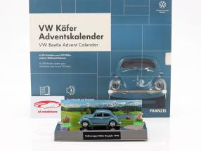 VW Escarabajo Adventskalender 2020: Volkswagen VW Escarabajo azul 1:43 Franzis