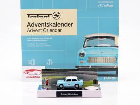 Trabant calendário do Advento 2020: Trabant 601 azul 1:43 Franzis