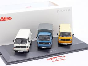 3-Car Set: 40 Years Volkswagen VW T3 Bus 1:43 Schuco