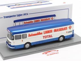 Saviem Transporter 1974 formula 1 Team Ligier blu / bianca 1:43 Spark