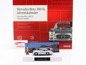Mercedes-Benz 300 SL Adventskalender 2020: Mercedes-Benz 300 SL silber 1:43 Franzis