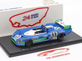 Matra MS 670B #11 gagnant 24h LeMans 1973 Pescarolo, Larrousse 1:43 Spark