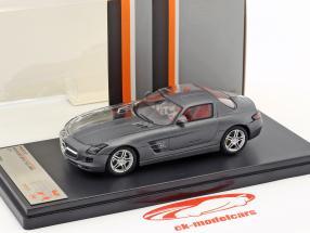 Mercedes-Benz SLS AMG Bouwjaar 2011 dof grijs / doorzichtig 1:43 Premium X