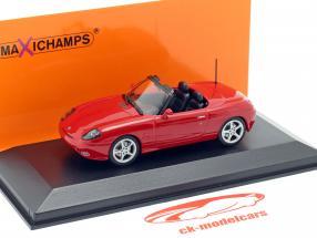 Fiat Barchetta Byggeår 1995 rød 1:43 Minichamps