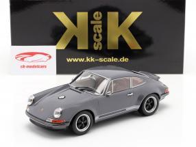 Singer Coupe Porsche 911 Modificación gris oscuro 1:18 KK-Scale
