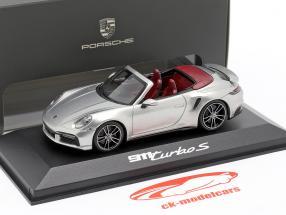 Porsche 911 (992) Turbo S Cabriolet Ano de construção 2020 prata metálico 1:43 Minichamps
