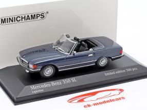 Mercedes-Benz 350 SL (R107) Baujahr 1974 blau metallic 1:43 Minichamps