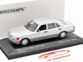 Mercedes-Benz 560 SEL (W126) year 1990 silver 1:43 Minichamps