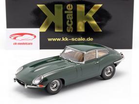 Jaguar E-Type Coupe Series 1 RHD year 1961 dark green 1:18 KK-Scale