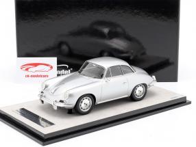 Porsche 356 Karmann Hardtop jaar 1961 zilver metalen 1:18 Tecnomodel