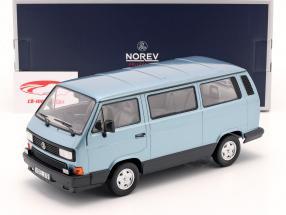 Volkswagen VW Multivan Byggeår 1990 Lyseblå metallisk 1:18 Norev