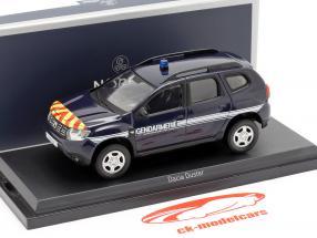 Dacia Duster Gendarmerie år 2018 mørk blå 1:43 Norev