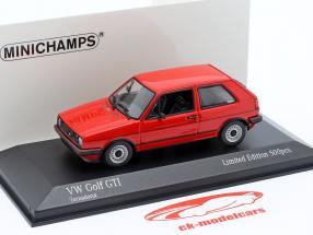 Volkswagen VW Golf II GTi Bouwjaar 1985 tornado rood 1:43 Minichamps