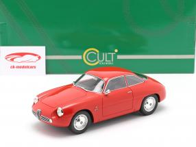 Alfa Romeo Giulietta Sprint Zagato (SZ) 1961 rød 1:18 Cult Scale