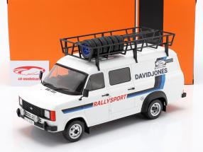 Ford Transit MK II 1979 Rallye Assistance David Jones White / blue 1:18 Ixo