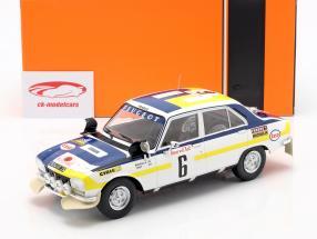 Peugeot 504 Ti #6 vinder Rallye Marokko 1975 Mikkola, Todt 1:18 Ixo