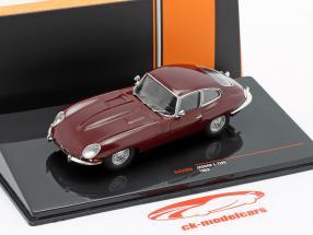 Jaguar E-Type Bouwjaar 1963 donker rood 1:43 Ixo
