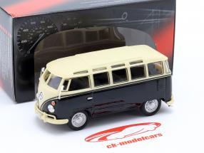 Volkwagen VW T1 Samba Bus med Tow Bar år 1950 sort / beige 1:43 Cararama