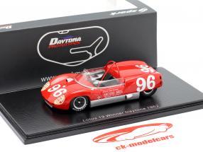Lotus 19 #96 gagnant 3h Daytona 1962 Dan Gurney 1:43 Spark