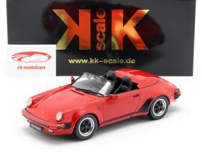 Porsche 911 Speedster Byggeår 1989 rød 1:18 KK-Scale