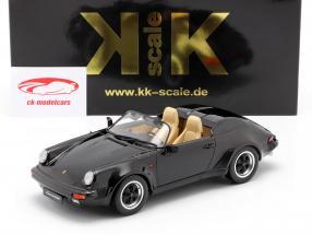 Porsche 911 Speedster Bouwjaar 1989 zwart 1:18 KK-Scale