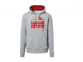 Jersey con capucha Hashtag Porsche 944 Colección gris claro / rojo