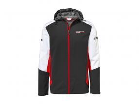 Windbreaker Porsche Motorsport Collection sort / hvid / rød
