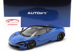 McLaren 720S Byggeår 2017 blå metallisk 1:18 AUTOart