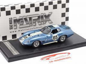 Shelby Cobra Daytona Type 65 Proto Bouwjaar 1965 blauw / Wit 1:43 Matrix