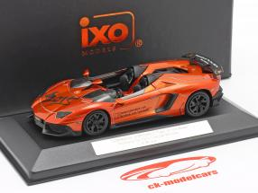 Lamborghini Aventador J Fiera del giocattolo Norimberga 2015 arancia metallico 1:43 Ixo