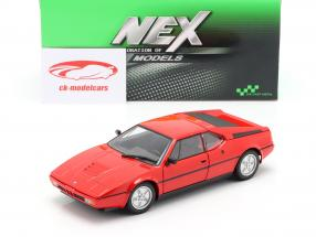 BMW M1 year 1978 red 1:24 Welly