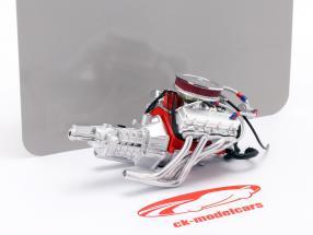 Chevrolet Camaro Big Red 427 engine and transmission 1:18 GMP