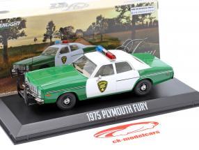 Plymouth Fury Chickasaw Sheriff Bouwjaar 1975 groen / Wit 1:43 Greenlight