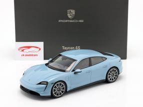 Porsche Taycan 4S year 2019 frozenblue metallic 1:18 Minichamps