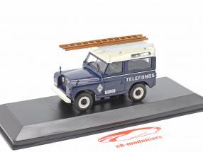 Land Rover Santana 88 Telefonica Año de construcción 1989 azul / Blanco 1:43 Altaya