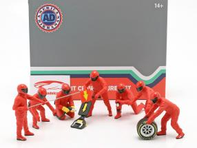 formule 1 Fosse équipage personnages Set #1 équipe rouge 1:18 American Diorama