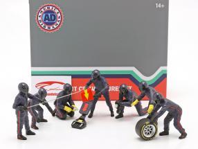formel 1 Grube mandskab tegn Set #1 hold blå 1:18 American Diorama