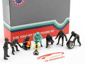 formule 1 Pit bemanning karakters Set #1 team zwart 1:43 American Diorama
