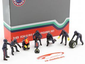 Formel 1 Pit Crew Figuren-Set #1 Team Blau 1:43 American Diorama