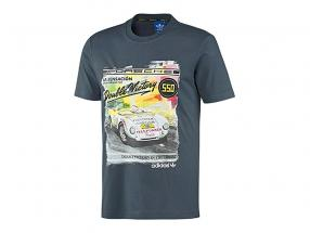 Porsche T-shirt Porsche 550 Dobbelt Sejr 1954 Adidas gråblå