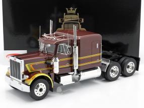 Peterbilt 359 Bull Nose Vrachtwagen 1967 bruin metalen 1:18 Road Kings